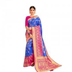 Elegent festive silk saree