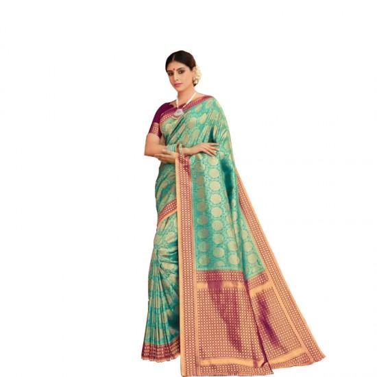 Traditional wear floral silk saree