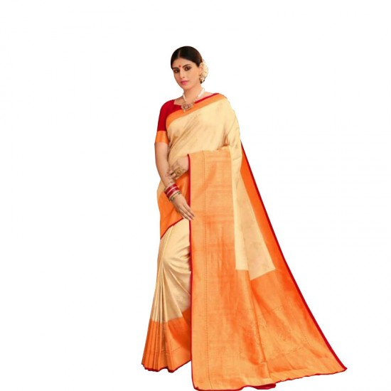 Festive wear embroidery silk saree