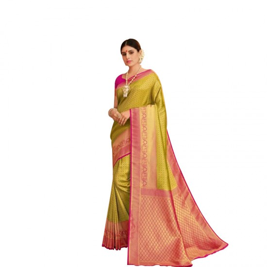 Ethnic wear designer silk saree