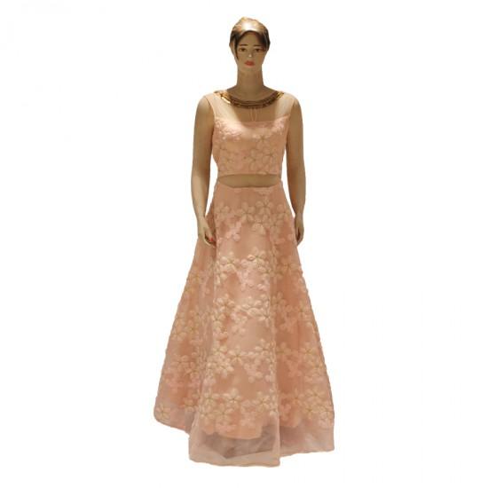 Gown with corrosiya work